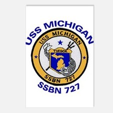 USS MICHIGAN SSBN 727 Postcards (Package of 8)
