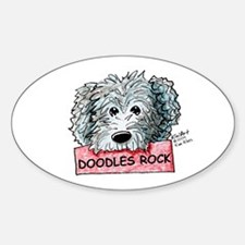 Doodles Rock Sign Decal