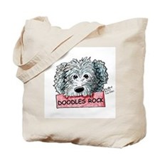 Doodles Rock Sign Tote Bag
