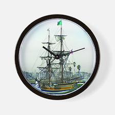Cute Pirate sail ship history Wall Clock