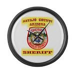 Navajo County Sheriff Large Wall Clock