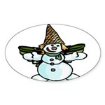 New Orleans Christmas Sticker (Oval 10 pk)