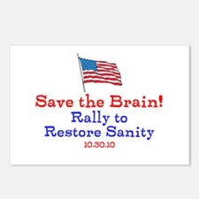 Save the Brain! Flag pole Postcards (Package of 8)