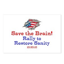 Save the Brain! Torn Flag Postcards (Package of 8)