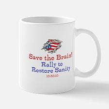 Save the Brain! Torn Flag Mug