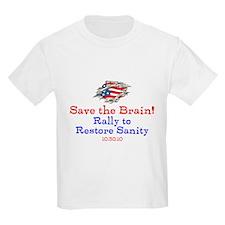 Save the Brain! Torn Flag T-Shirt