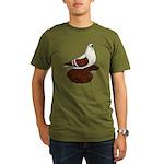 Silesian Swallow Pigeon Organic Men's T-Shirt (dar