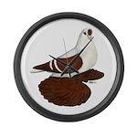 Silesian Swallow Pigeon Large Wall Clock