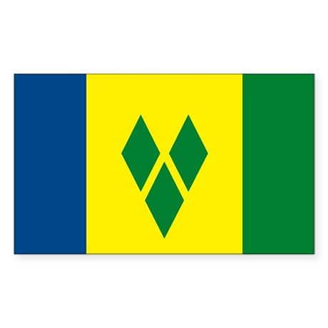 St. Vincent Flag Rectangle Sticker