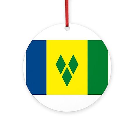 St. Vincent Flag Ornament (Round)