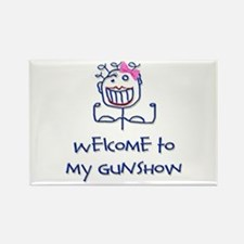 Welcome girl Rectangle Magnet