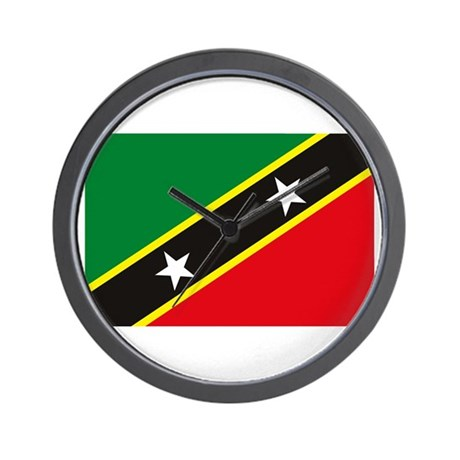St. Kitts and Nevis Flag Wall Clock