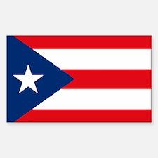 Puerto Rico Flag Rectangle Decal