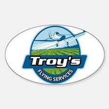 Troy's Flying Services Sticker (Oval)