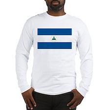 Nicaragua Flag Long Sleeve T-Shirt