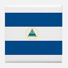 Nicaragua Flag Tile Coaster