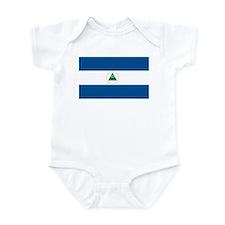 Nicaragua Flag Infant Creeper
