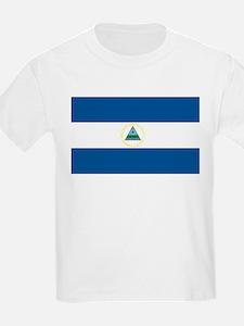 Nicaragua Flag Kids T-Shirt