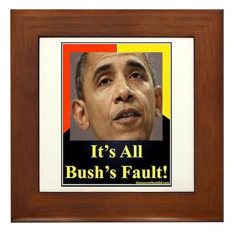 """""""It's All Bush's Fault"""" Framed Tile"""