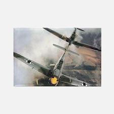 Spitfire Chasing ME-109 Rectangle Magnet