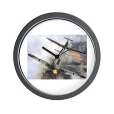 Spitfire Chasing ME-109 Wall Clock