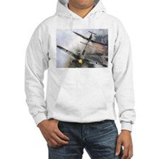 Spitfire Chasing ME-109 Hoodie
