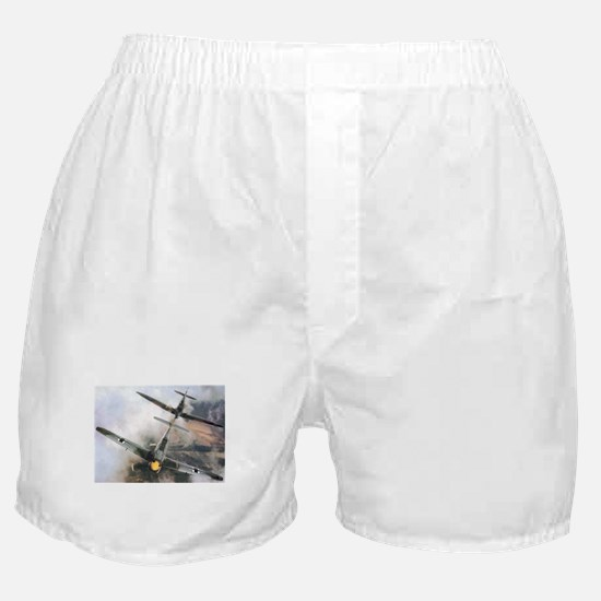 Spitfire Chasing ME-109 Boxer Shorts