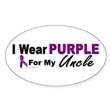 I Wear Purple For My Uncle 3 Decal