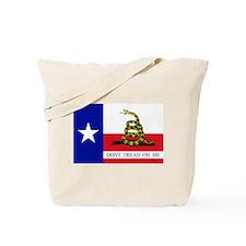 Dont Tread on Me Texas Flag Tote Bag