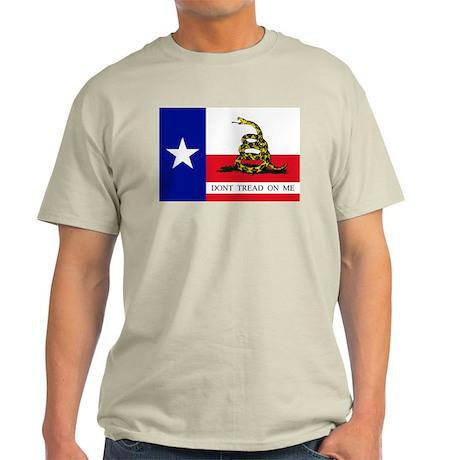 Dont Tread on Me Texas Flag Light T-Shirt
