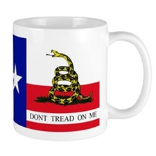 Dont Tread on Me Texas Flag Mug