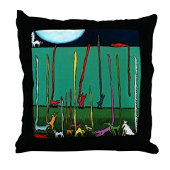 Silly Tall Tales - er - Tails Throw Pillow