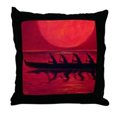 Almost Across the Line Throw Pillow
