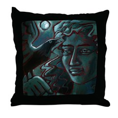 Midnight Message Throw Pillow