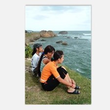 Three Girls by the Sea Postcards (Package of 8)