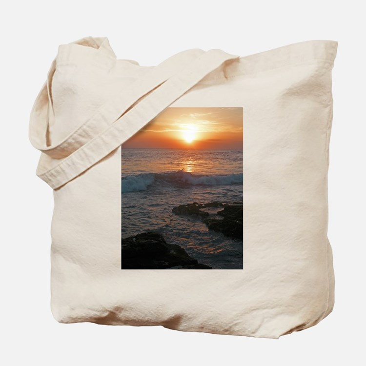 Bali Tana Lot Sunset Tote Bag