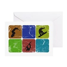 Snowboarding Vintage snowboarder Greeting Card
