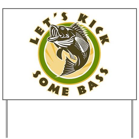 Bass Fish Yard Sign