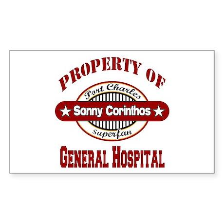 Property of Sonny Corinthos Sticker (Rectangle)