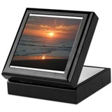 Beach sunset Keepsake Boxes