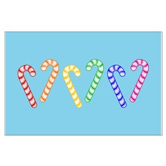 Row Of Rainbow Candy Canes Posters