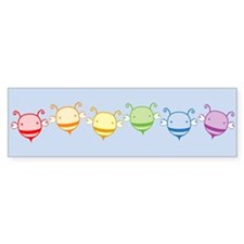 Rainbow Bees Bumper Sticker