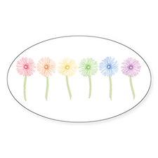 Rainbow Daisies Decal