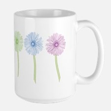 Rainbow Daisies Large Mug