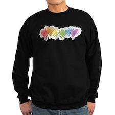Watercolor Rainbow Hearts Sweatshirt