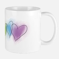 Watercolor Rainbow Hearts Mug