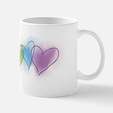 Watercolor Rainbow Hearts Small Small Mug