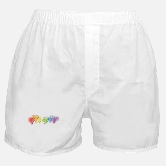 Watercolor Rainbow Hearts Boxer Shorts