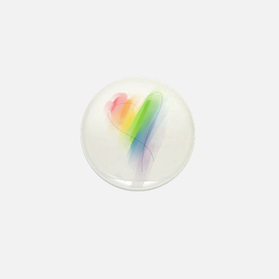 Rainbow Heart Mini Button