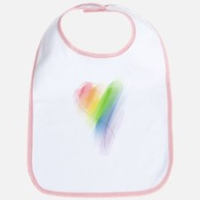 Rainbow Heart Bib